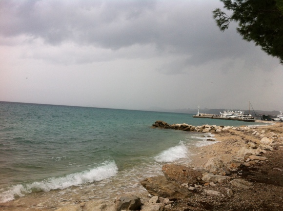 my backyard in croatia, on a stormy day